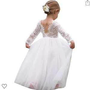 White toddler gown